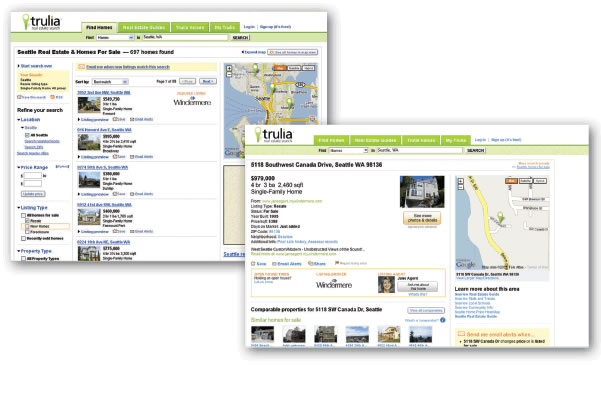 Trulia Real Estate Website